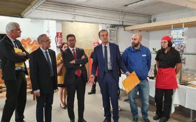 Inauguration de l'atelier rénové de la SEGPA
